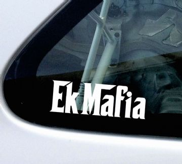 EK Mafia (or custom test) stickers / Decals, For Honda Civic EK Type-R / VTi, Vtec,si,sir